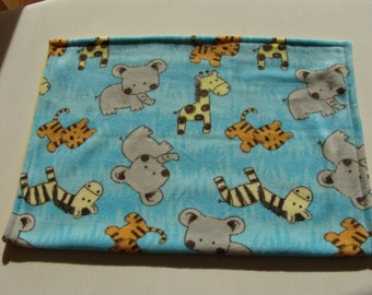 Fleece Baby Blanket - Zoo animals
