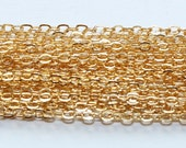 Oval link 1.9mm x 2.3mm GOLD FILLED FLAT Cable Chain 14k Gold Filled  bulk chain Unfinised wholesale gold filled chain