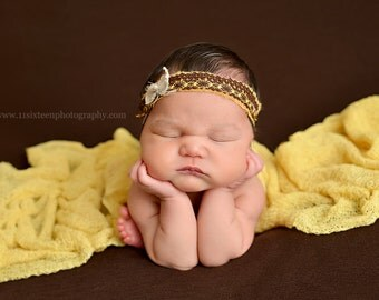 Mellow Yellow Stretch Knit Wrap Newborn Baby Photography Prop