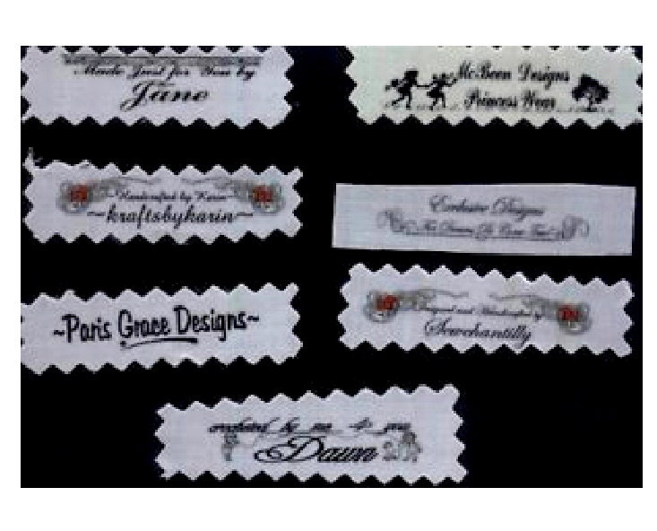 60 Custom Clothing Labels Garment Tags Personalized Custom Sew