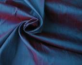 "Blue Red iridescent 100% dupioni silk fabric yardage By the Yard 45"" wide"