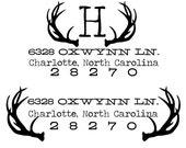 huntsman style return address wooden hand stamp - 10 to 14 day turnaround timeframe