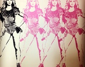 Beyonce screen printed poster