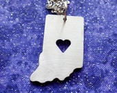 I Heart Indiana - Necklace Pendant or Keychain