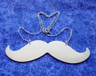 My Intense Metal Mustache - Necklace or Pendant