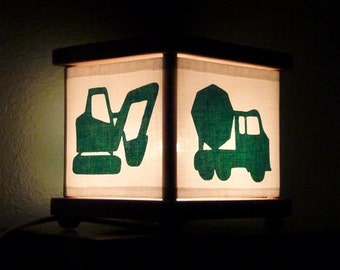 Construction Truck Night Light Lamp Digger Trucks Bulldozer