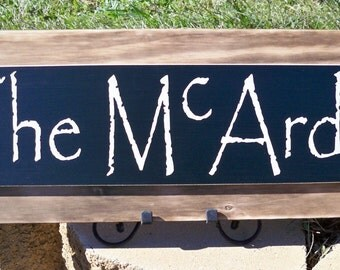 Personalized Family Name Sign, Burnt Wood Sign, Primitive Sign, Last Name Sign, Personalized Name Sign, Rustic Sign, Cabin Sign