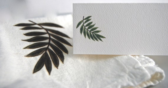 Tented Name Place Cards Palm Branch 10 Personalized Wedding Decor or 12 Blank