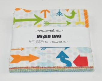 Mixed Bag Brushed Charm Pack by Studio M for Moda Fabrics