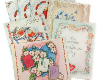 Vintage School Valentine's Day Cards