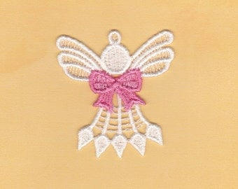 Custom Lace Angel with awareness bow