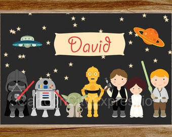 Personalized Placemat Star Wars