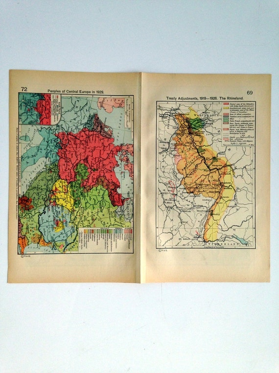 Double Sided Medieval Map - Europe and its expansion- Central Europe