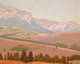 """Oil Landscape """"Galena"""" Limited Edition Giclee Print"""