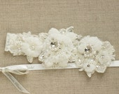 Wedding Garter lace wedding garter  Lace garter Bridal garter  lace bridal garter wedding accessories  Keepsake Garter