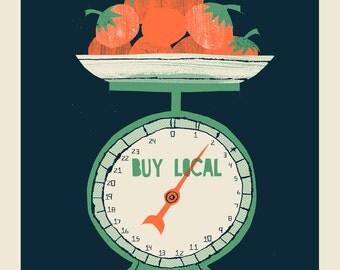 Buy Local Food Scale screen print