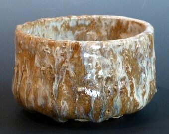 Ash Glaze Teabowl Japanese Style Chawan Very Coarse Shigaraki Type Clay Watson