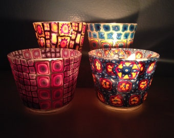 Millefiori Candle Holder
