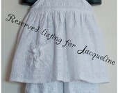 Reserved listing for Jacqueline Baby girls 12-18M Apron top/dress with long bloomers