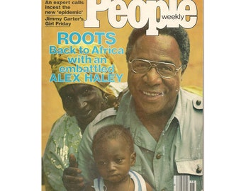 Vintage People Weekly Magazine May 9, 1977  featuring Roots and Alex Haley, The Fonz