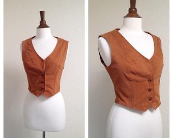 Vintage chestnut vest women's