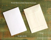 "SALE! 100 Standard Size Seed Packet Envelopes, Recycled White or Ivory, Seed Envelopes, Favor Envelopes, Recycled 3x4.5"" (76x114mm)"