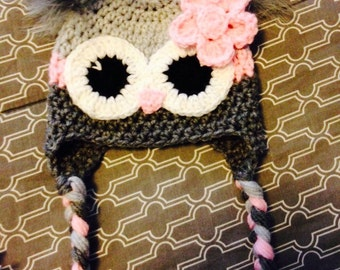 owl hat and matching hat for doll