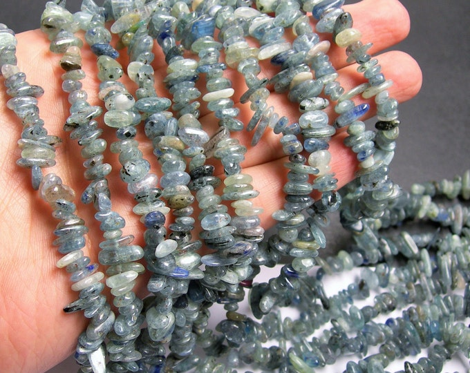 Kyanite gemstone - chip stone - pebble-  nugget - bead - 36 inch  strand - PSC38