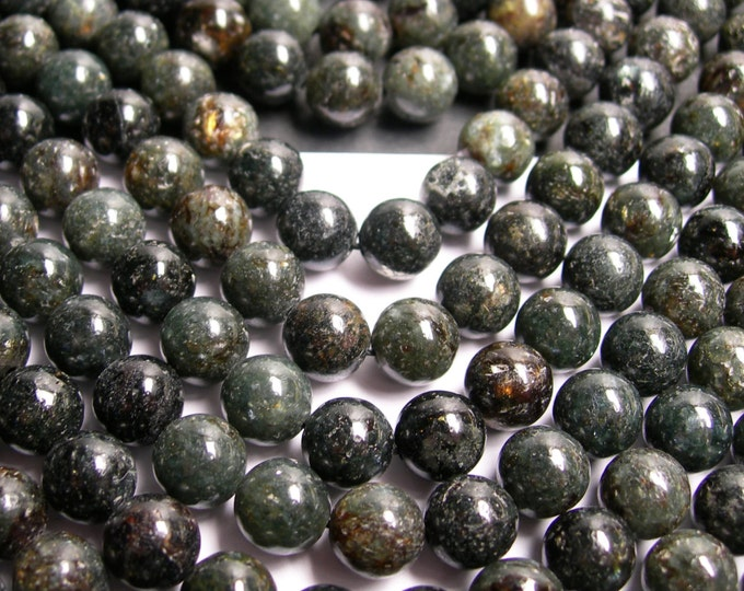 Astrophyllite -   8 mm round - A quality - 48 beads per strand -  1 full strand - very  rare - RFG135
