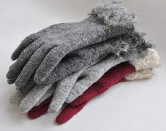 Felted gloves -- handmade to order