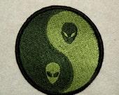 Alien Yin-Yang  Iron on Patch