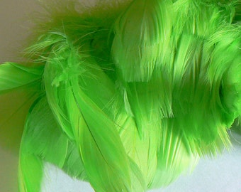 lime goose nagoire - green goose feathers - lime green feathers