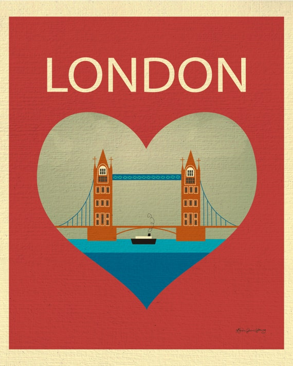 London Skyline Art Print, London Map, London Decor, England UK Art, British Baby Art, London Wall decor, Underground Print, style E8-O-LON2