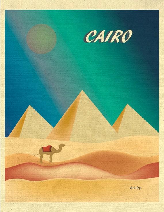 Cairo Print Cairo Pyramid Print Vertical Cairo By Loosepetals