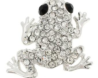 Silver Frog Pin Animal Pin Brooch 1003511