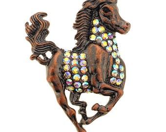 Vinatge Style Running Horse Pin Brooch 1003881