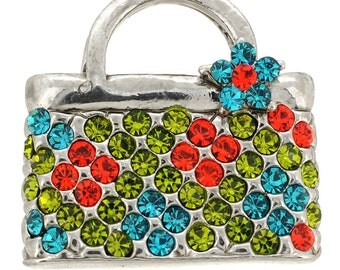 Lady Handbag Swarovski Crystal Pin Brooch 1013061