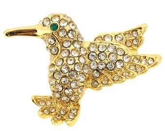 Clear Crystal Hummingbird Lapel Pin 1004211