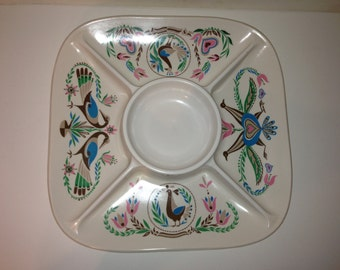 Vintage Divided PA Dutch Tray