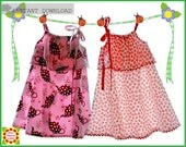 SillyMilly Pillowcase Sundress Girls Dress PATTERN + Free Mother-Daughter Apron Pattern, Sewing Patterns for Children, Toddler, PDF