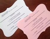 Vintage Style Bracket Response Card with Envelope