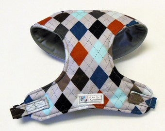 Argyle Comfort Soft Dog Harness - Made to order -