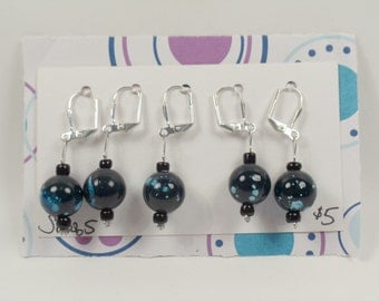 Silver Clasp Stitch Markers - Set of 5