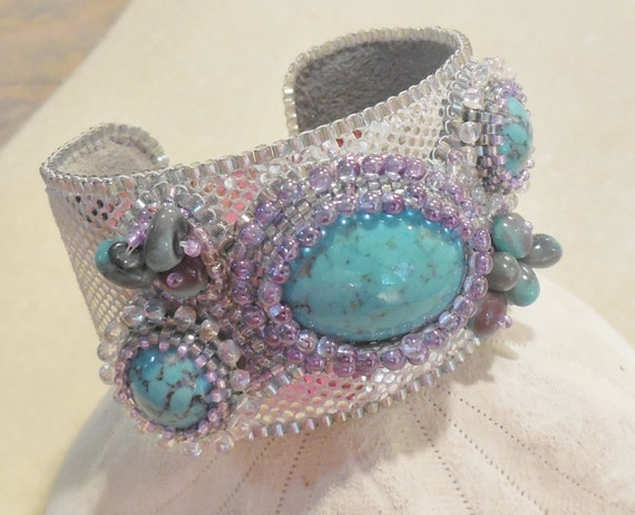 Items similar to pattern tutorial bead embroidery cuff