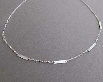 Silver Little Stix Necklace