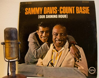"ON SALE Sammy Davis Jr. and Count Basie Vintage Vinyl Record Quincy Jones 1960s Jazz Pop Vocals Easy Listening ""Our Shining Hour""(1965 Verve"