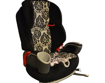 Graco Nautilus 3 in 1 Car Seat Cover- Damask & Black
