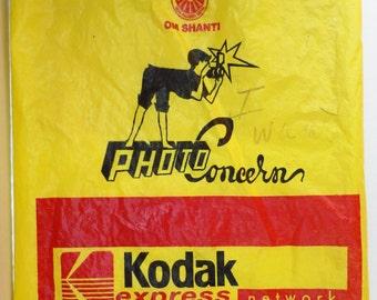 OM Shanti Kodak Film Shopping Bag from Nepal