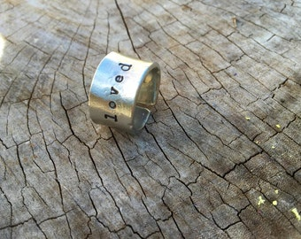 SALE Today--NEW-Loved Pewter Cuff Ring