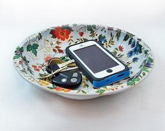Vintage Daher Decorated Ware Metal Litho Bowl - Floral Pattern